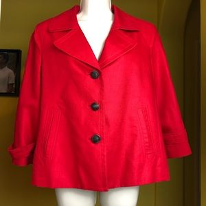 Talbots Linen Peacoat Red Size 12